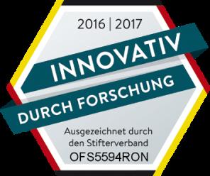 """Die Auszeichnung """"Innovativ durch Forschung"""" erhielt unter anderem OFS GmbH für das besondere Engagement in Forschung und Entwicklung."""