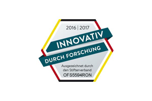"""Auszeichnung """"Innovativ durch Forschung"""" für 2016 erhielt OFS GmbH."""