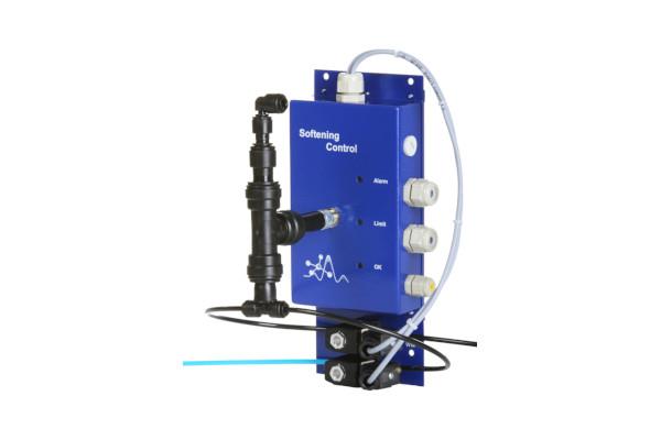 Mit Softening Control bietet sich eine prozentuale Resthärteüberwachung in Bezug zur Rohwasserhärte.